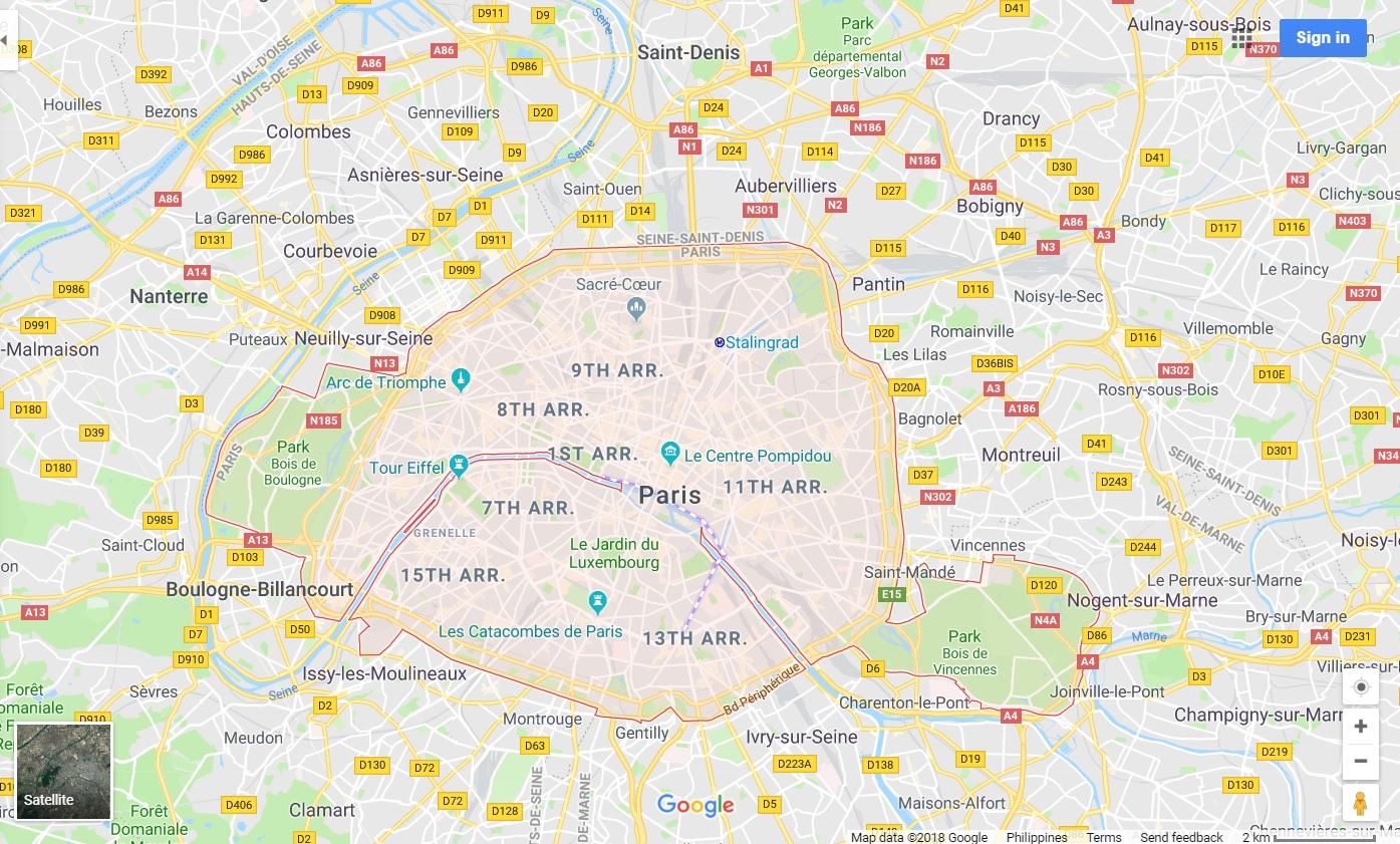 Paris map - All Luxury Apartments