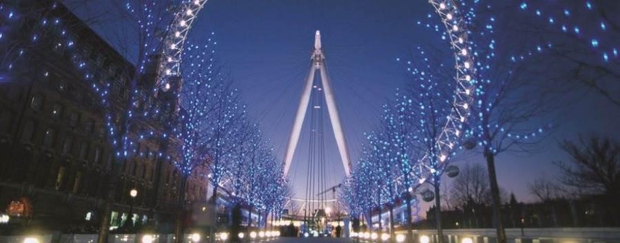London eye - christmas lights