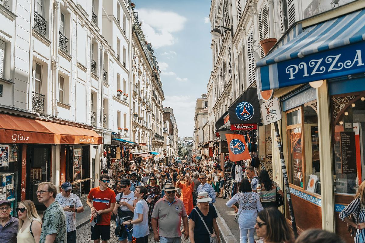 Paris in August - Busy and Deserted