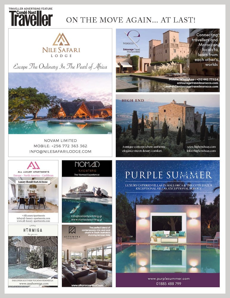 Find All Luxury Apartments in Condé Nast Traveller This Summer!