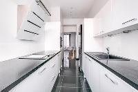 cool modern kitchen of Cannes Carnot Apartment 2BR luxury home