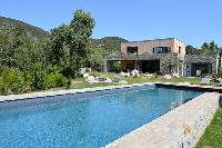 refreshing swimming pool of Corsica -Villa Agnellu luxury apartment