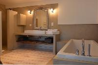 elegant bathroom with tub in Corsica -Villa Agnellu luxury apartment
