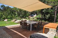 amazing deck and garden of Corsica -Villa Agnellu luxury apartment