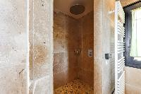 impressive marble-trim bathroom in Corsica - Di Paci luxury apartment