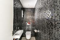 dashing mosaic bathroom walls in Corsica - Di Paci luxury apartment