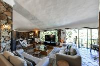 cozy living room of Corsica - Santa Giulia luxury apartment