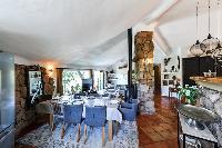 delightful dining room of Corsica - Santa Giulia luxury apartment