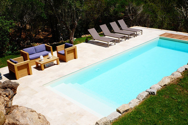 cool swimming pool of Corsica - Colomba luxury apartment