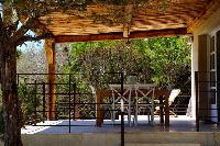 cool outdoor dining at Corsica - Colomba luxury apartment