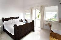 clean bedroom linens in New Providence Serendip Cove luxury vacation rental