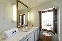 neat and trim bathroom of Corsica - U Portu luxury apartment