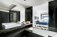 dapper en-suite bath in Cannes Villa Californie luxury apartment