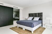 fabulous bedroom linens in Cannes Villa Californie luxury apartment