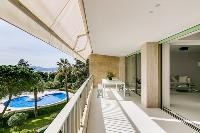 awesome deck of Cannes Villa Californie luxury apartment
