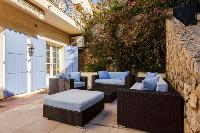 awesome patio of Cannes Villa Les Terrasses luxury apartment