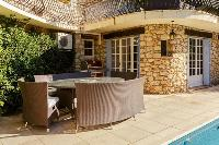 delightful outdoor furniture at Cannes Villa Les Terrasses luxury apartment