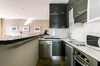 furnished kitchen of Cannes Apartment Deneuve luxury apartment
