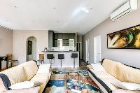 comfy and cool sitting area of Cannes Apartment Deneuve luxury apartment