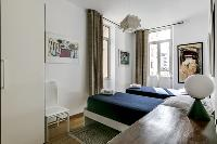 fresh and clean bedding in Cannes Apartment Deneuve luxury apartment