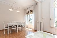 neat access to the balcony of Barcelona - Paseo de Gracia 4BR luxury apartment