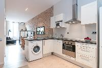 nice modern kitchen of Barcelona - Contemporary Ramblas 2BR luxury apartment