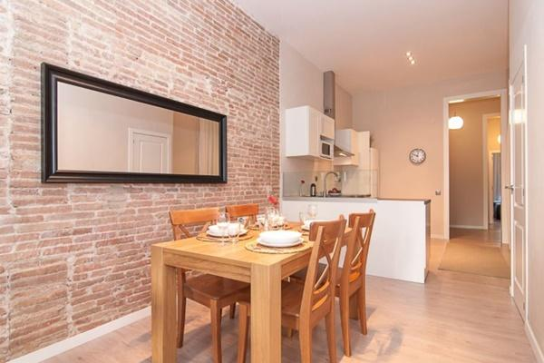 cool dining room of Barcelona - Contemporary Ramblas 2BR luxury apartment