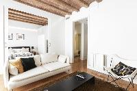 delightful living room of Barcelona - Modern Ramblas 2BR luxury apartment