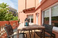 cool terrace of Barcelona - Sant Antoni Market 3BR luxury apartment