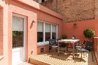 cool patio of Barcelona - Sant Antoni Market 3BR luxury apartment