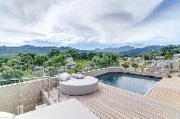 impeccable poolside area of Corsica - Villa Algajola luxury apartment