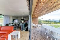 cool wooden deck of Corsica - Villa Algajola luxury apartment