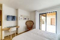 cool bedroom furnishings in Corsica - Villa Algajola luxury apartment