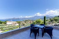 cool al-fresco dining at Corsica - Citadelle luxury apartment