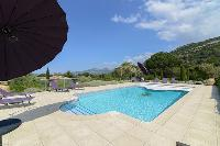cool poolside area of Corsica - Revellata luxury apartment