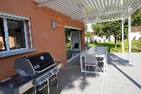 cool patio with barbecue at Corsica - Ronca luxury apartment