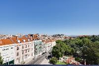 awesome view from the terrace of Lisbon - O Tejo luxury apartment and vacation rental