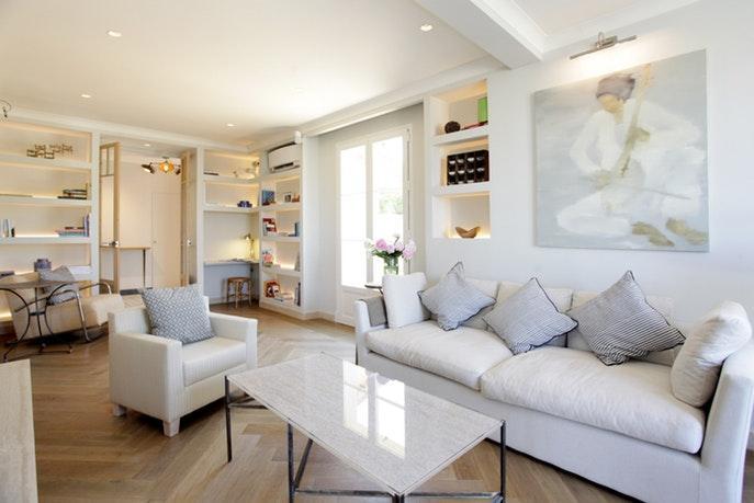 exquisite living room of Cannes - Villa Le Pontiel luxury apartment