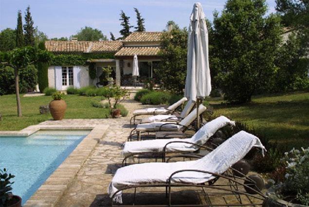 cool poolside area of Monaco - Fontvieille Villa luxury apartment