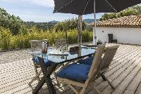 cool wooden deck of Saint-Tropez - Vue Sereine Villa luxury apartment