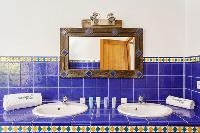 cool bathroom accents in Corsica - Arinella luxury apartment