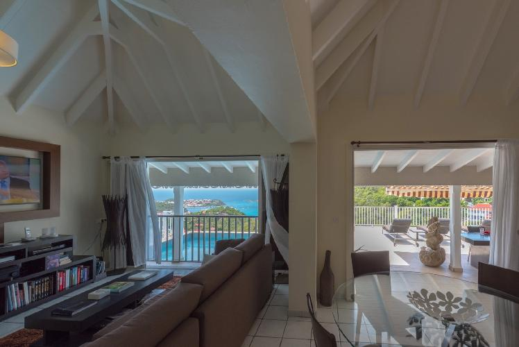 fully furnished Saint Barth Villa Angelo luxury holiday home, vacation rental