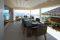 cheerful Saint Barth Sunset Caribbean Sea luxury villa holiday home, vacation rental