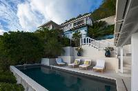 beautiful Saint Barth Sunset Caribbean Sea luxury villa holiday home, vacation rental