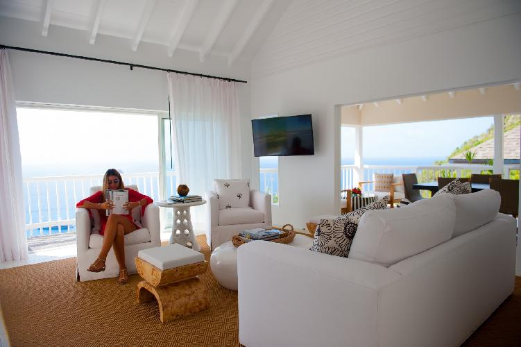 chic Saint Barth Sunset Caribbean Sea luxury villa holiday home, vacation rental
