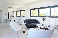 cool open-plan living room of Corsica - Alta Roccha luxury apartment