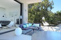 impressive veranda of Corsica - Alta Roccha luxury apartment