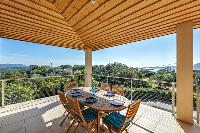 awesome pergola and deck of Corsica - Cala Rossa luxury apartment