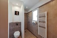 neat and trim toilet and bath in Corsica - Cala Rossa luxury apartment