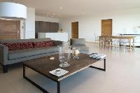 cool, contemporary interiors of Corsica - Palombaggia luxury apartment